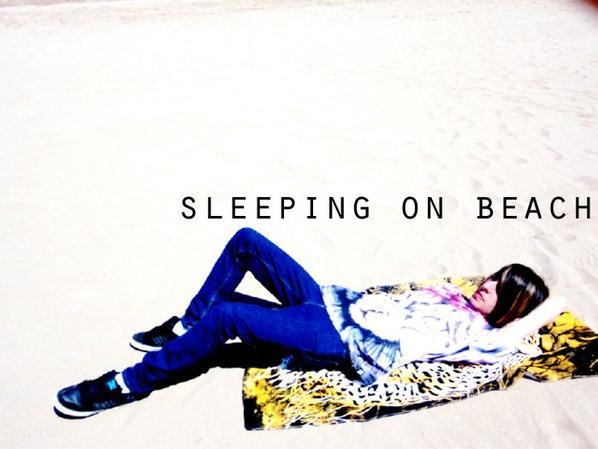 SLeeping ON BEACH