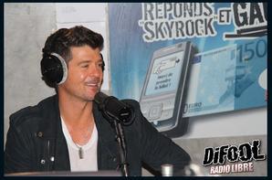 Robin Thicke dans la Radio Libre !!!