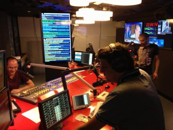 Romano, Cédric et Karim dans le nouveau studio !