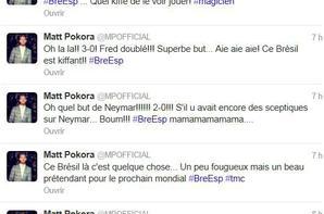 M Pokora hier à Valenciennes (Matt qui joue tjs au foot) :D