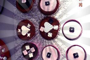 cup cake chocolat garniture pate a sucre