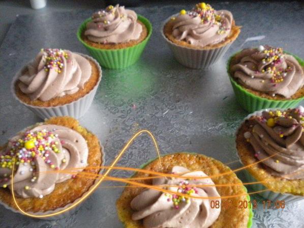 cupcake fleur d'oranger pomme topping phildephia  choco mascarpone
