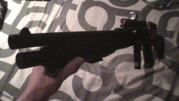 mon fusil a pompe (lafken) pres pour une partie