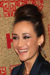 Maggie Q or de HBO Globes After Party
