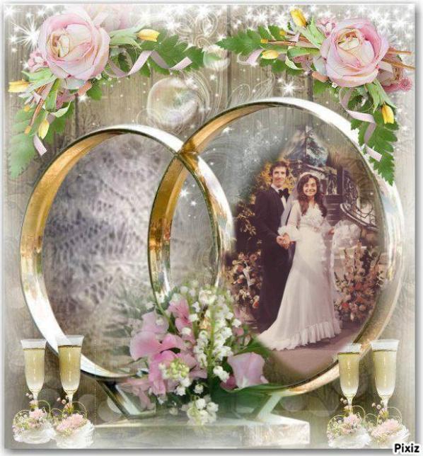 JOYEUX ANNIVERSAIRE DE MARIAGE NADIA    AMITIE    BISOUS   MARIE-CLAUDE