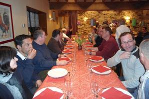 On termine par le repas à l'auberge de St Germain le vasson