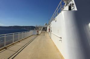 A bord du Jean Nicoli le 30 juin 2021 à Marseille en partance pour Porto-Vecchio