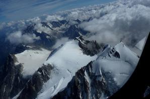 Survol du Mont Blanc avec mon chéri
