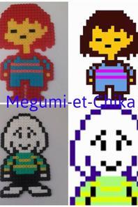 Pixel Art Personnages Dundertale Partie 1 Megumi Et