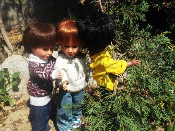 Allez le moins timide des garçonnets  va parler aux fillettes....voudront elles sympathiser avec eux ?