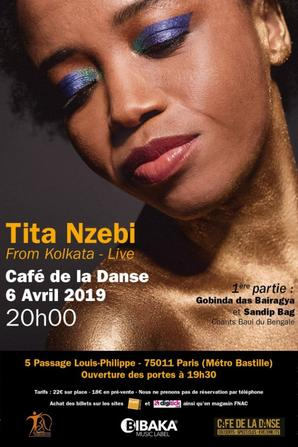 Après 'Une Aurore se lève', 'Clair de Lune', nouveau show de Tita Nzebi 'From Kolkata' au Café de la Danse !