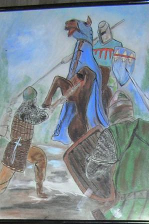 Tableau en pastel  scene 2- scéne 1