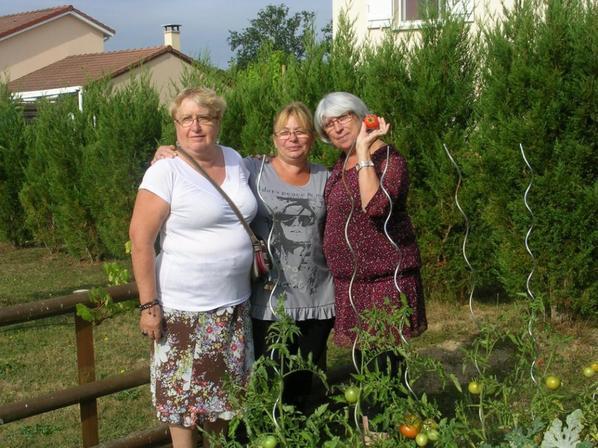 photo de notre magnifique rencontre avec notre amie commune Mauricette et Crilou de Savoie