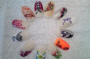 mes essais nail art