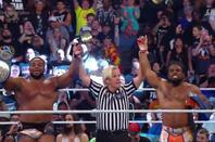 Champions de la WWE après Extreme Rules 2019: Nouveau Champion Universal: Brock Lesnar, Nouveau Champion Intercontinental: Shinsuke Nakamura, Nouveau Champion des Etats-Unis: AJ Styles et Nouveaux Champions par équipe de SmackDown: The New Day