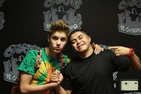 Justin with the hosts of Big Boy Neighborhood
