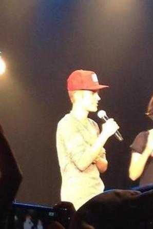 Justin at his Acoustic Show in Japan