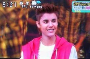 Justin on Japanese TV show SUKKIRI this morning.