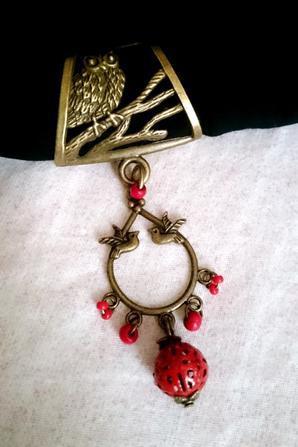Bijoux de foulard avec perles