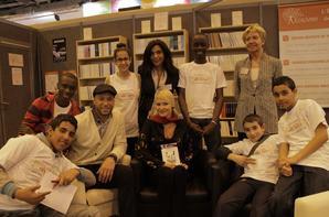 Xavier et Tatiana-Laurens au salon du Livre pour La Cité des Mots