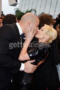 Tatiana-Laurens & Xavier DELARUE Festival de Cannes 2013 (Wire Image)