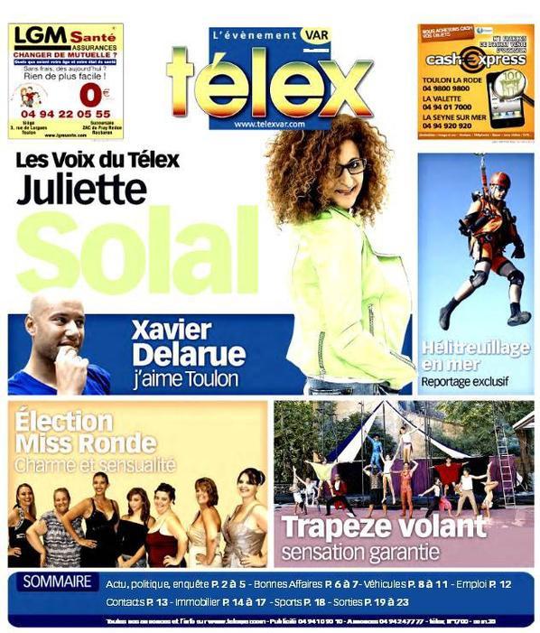 Xavier Delarue in Telex !!   (Toulon 2013)