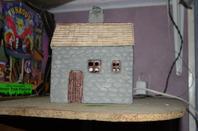 quelques créations pour mes villages dont celui de Noël 2013sur le thème de Lourdes au temps des apparitions .