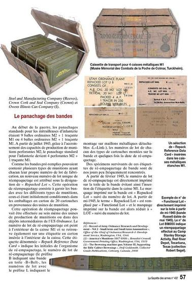 La mitrailleuse US BROWNING modele 1917 A1