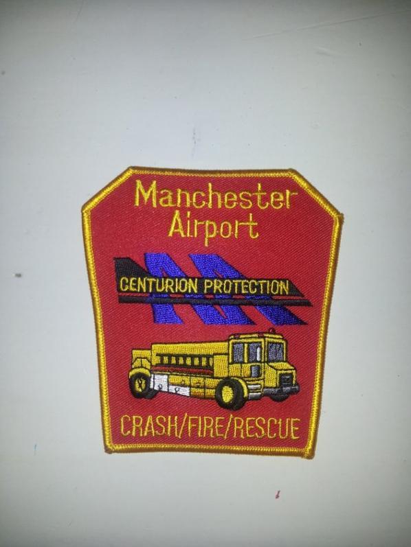 Ecusson Airport Manchester et Anniversaire du 11 septembre 2001