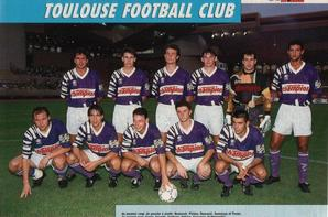 Photo derby de la garonne Bordeaux TFC du 01/09/1993 et groupes