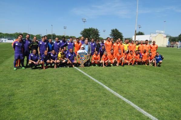 Photos de l'équipe des pitchouns lors du match de gala du 27/05/2017