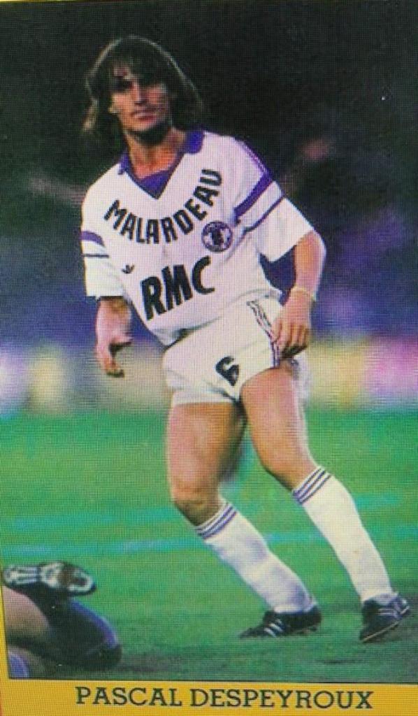 Photos de l'équipe du TFC durant la saison 1988/1989 et de Pascal Despeyroux.