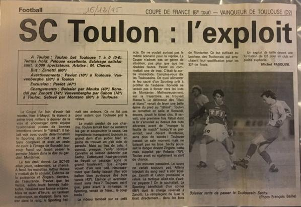 Autres photos de match SCT TFC 32ieme de finale de la coupe de France du  15/12/1995