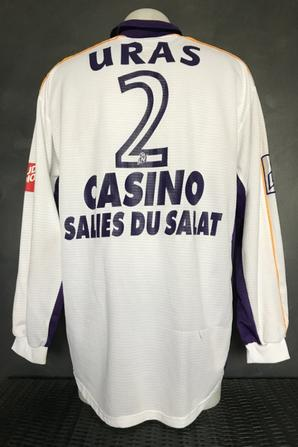 Mes deux maillots de Cédric Uras saison 2000/2001