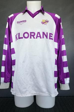 Mes deux maillots saison 90/91 sponsors inversés.