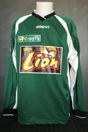 Mes deux maillots coupe de la ligue saison 2003/2004 16ieme de finale Bastia TFC du 29/10/2003