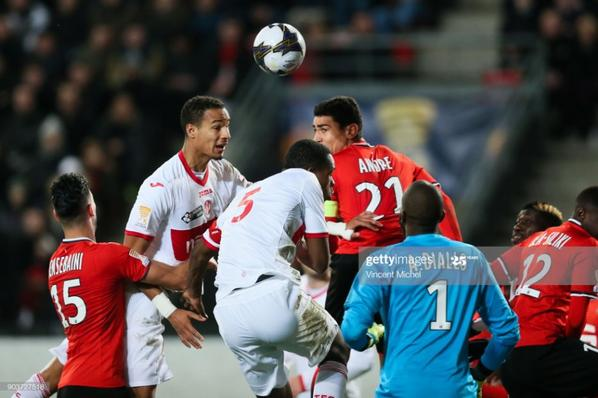 Photos de Christopher Jullien lors du match de coupe de la ligue Rennes TFC du 10/01/2018