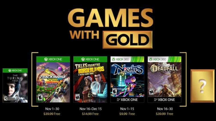 Game With Gold sep nov dec 2017