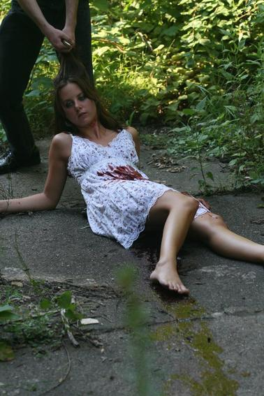 Im Woman Shot Belly