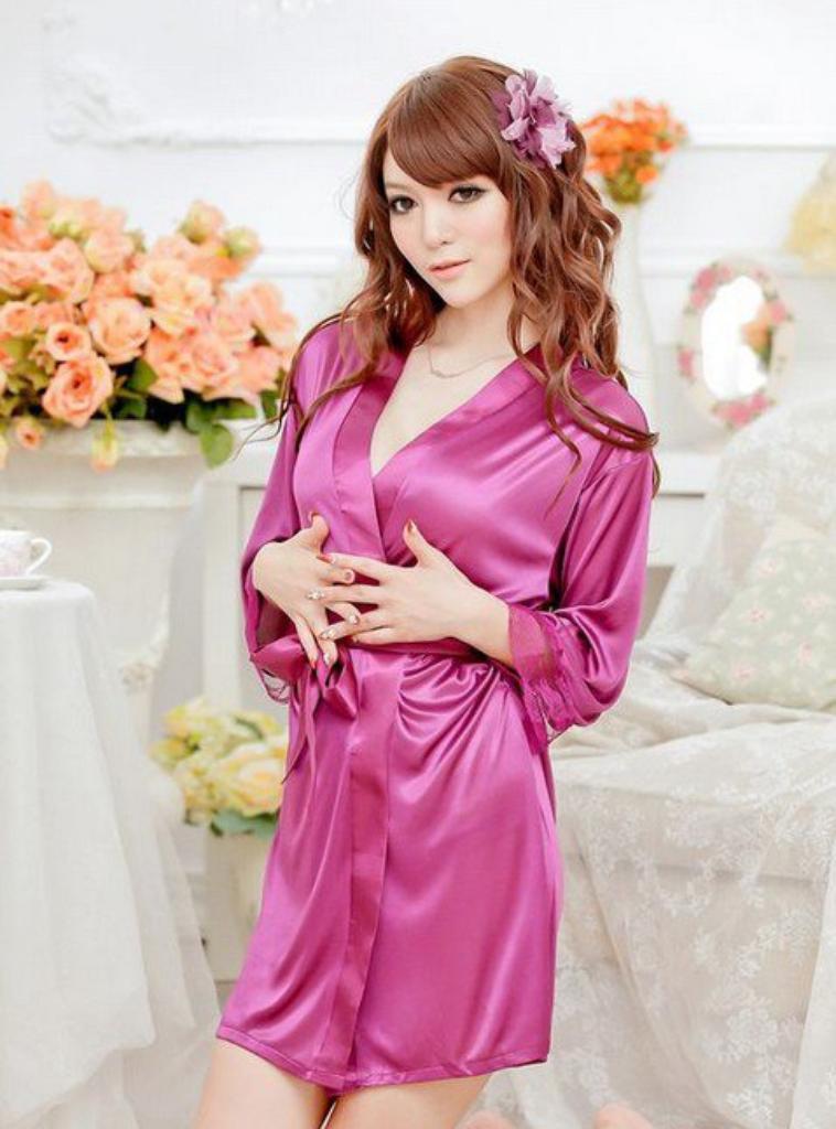 sexy en dentelle de soie satin robe de nuit chemise de nuit femme tback g string multicolore. Black Bedroom Furniture Sets. Home Design Ideas