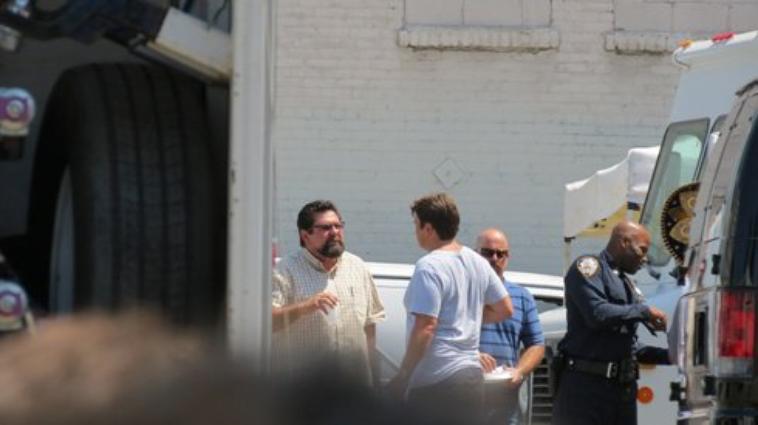 Nathan fillion sur le tournage ;)