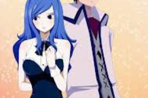 """le couple """" grey et jubia """" de fairy tail"""