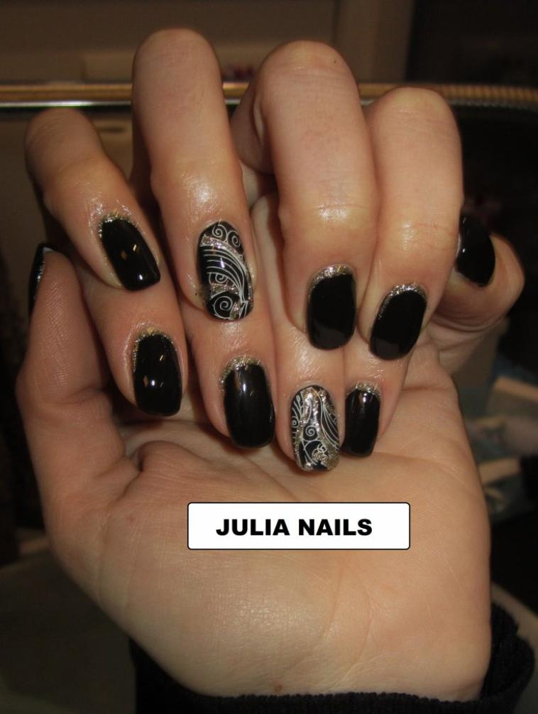 ongle en gel couleur noir pronails blog de nails julia 933. Black Bedroom Furniture Sets. Home Design Ideas