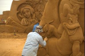 sculpture de sable a ostende
