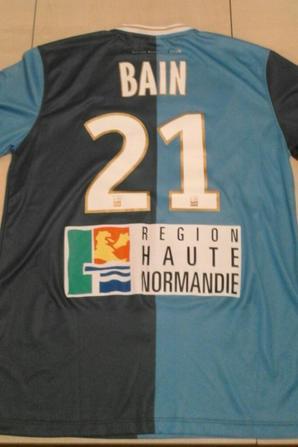 153ième maillot porté par Denys BAIN,match Laval-Le Havre