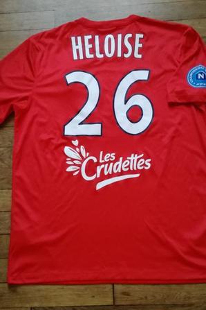 227ième maillot porté par Laurent HÉLOÏSE lors du match face à Pau