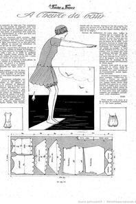 SFBJ PARIS 2 en costume de bain des années 1900