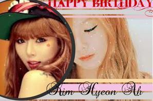 4MINUTE// Hyun A anniversaire le 6 JUIN \\4MINUTE