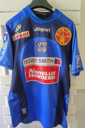 Maillot porté par Jocelyn Gourvennec avec le SC BASTIA en 2002/2003