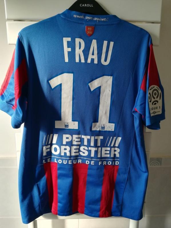 maillot porté par Pierre Alain FRAU avec SM CAEN en 2011/2012